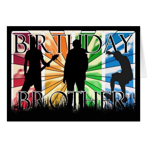Irmão moderno do feliz aniversario cartões