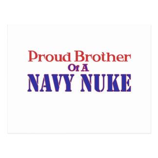 Irmão orgulhoso de umas armas nucleares do marinho cartao postal