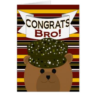 Irmão - soldado Congrats do exército! Cartão