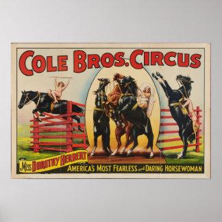 Irmãos do Cole, poster do circo dos anos 30