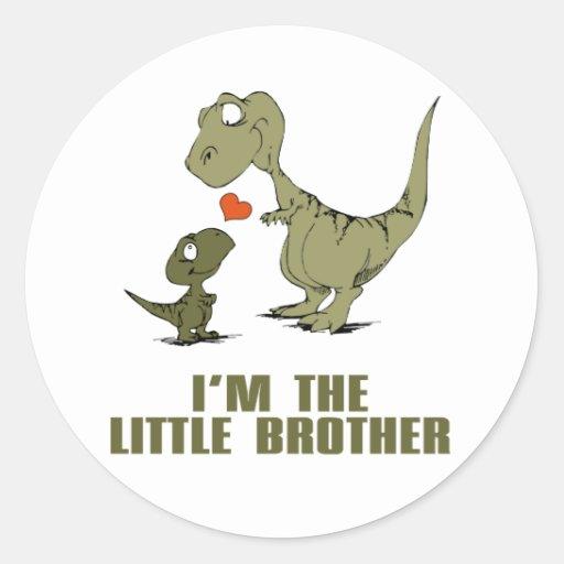 Irmãos do dinossauro adesivos em formato redondos