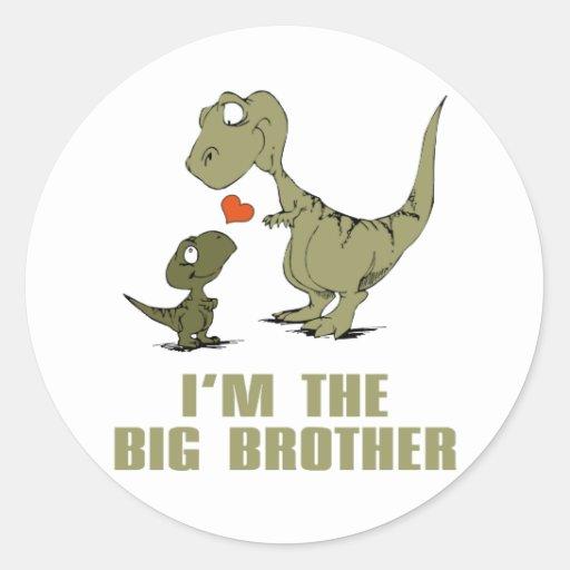 Irmãos do dinossauro adesivos redondos