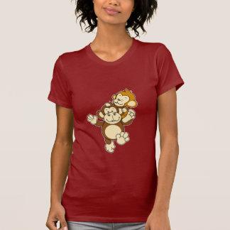 Irmãos do macaco camisetas