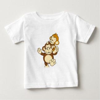 Irmãos do macaco camiseta para bebê