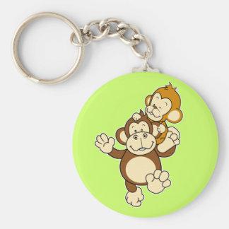Irmãos Keuchain do macaco Chaveiros