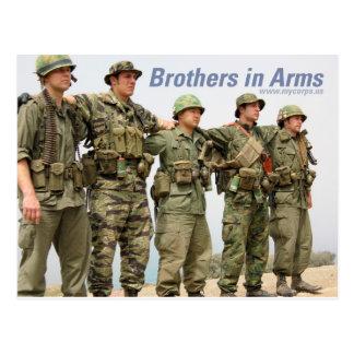Irmãos no cartão dos braços