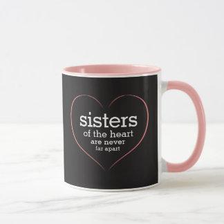 Irmãs inspiradas das citações do coração caneca