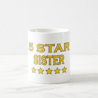 Irmãs legal engraçadas Irmã de cinco estrelas Canecas