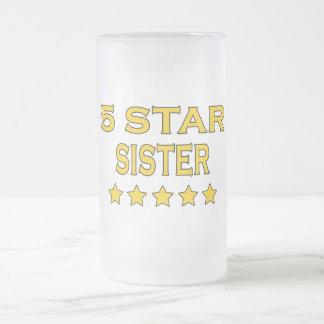 Irmãs legal engraçadas: Irmã de cinco estrelas Caneca