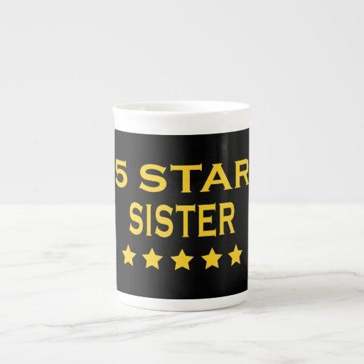 Irmãs legal engraçadas: Irmã de cinco estrelas Canecas De Porcelana