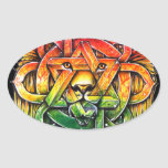 Iron Lion Zion - M1 Adesivo Oval