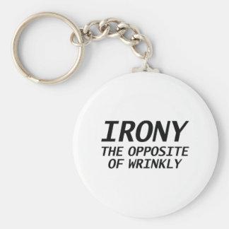 Ironia o oposto de Wrinkly Chaveiro