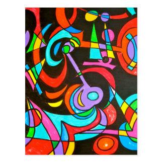Irradiações cósmicas - cartão da arte abstracta