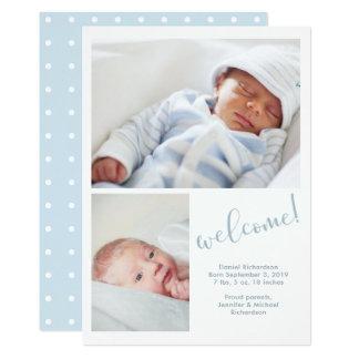 | irrisório azul anúncio do nascimento do bebê de