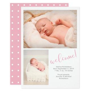 | irrisório cor-de-rosa anúncio do nascimento do