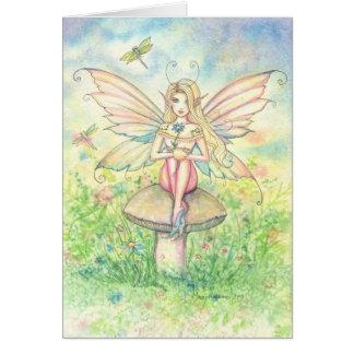 Irrisório no cartão feericamente cor-de-rosa