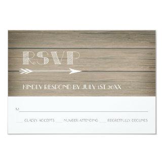 Irrisório rústico - cartão da resposta de RSVP Convite 8.89 X 12.7cm