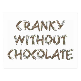 Irritadiço sem chocolate cartão postal