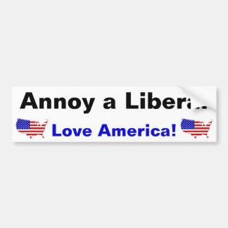 Irrite um liberal - amor América! Adesivo Para Carro