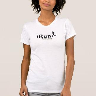 Irún em torno da camisola de alças Running cómico Camiseta