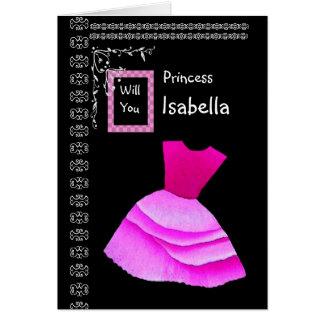 ISABELLA - seja meu florista com vestido Cartão Comemorativo