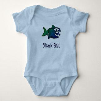 Isca do tubarão body para bebê