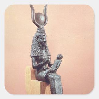 Isis que suckling o Horus infantil Adesivo Quadrado