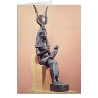 Isis que suckling o Horus infantil Cartoes