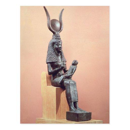 Isis que suckling o Horus infantil Cartão Postal
