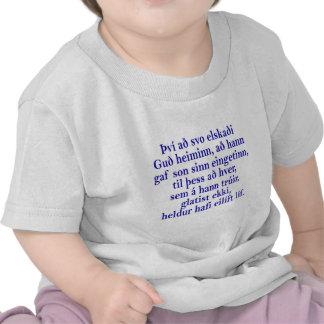Islandês do 3:16 de John T-shirts