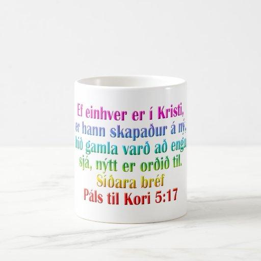 Islandês do 5:17 de 2 Corinthians Canecas