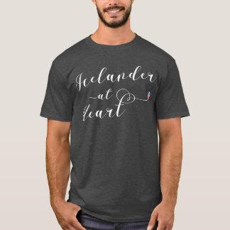 Islandês na camiseta do coração, Islândia