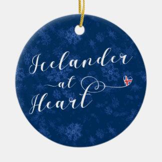 Islandês no coração, ornamento da árvore de Natal