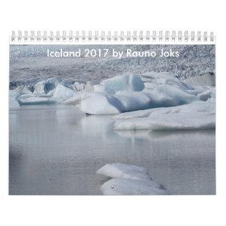 Islândia 2017 por Rauno Joks Calendário