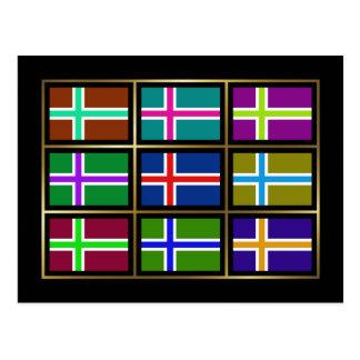 Islândia Multihue embandeira o cartão