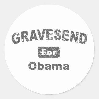 ismyhomeboy - Gravesend para Obama Adesivo Redondo