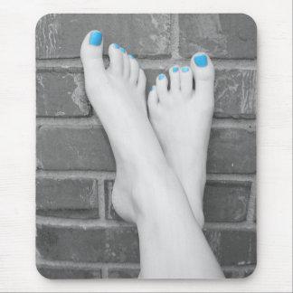 Isolamento descalço Mousepad da cor da parede de