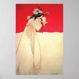 ~ Isolde de Nouveau da arte do vintage por Beardsl Poster