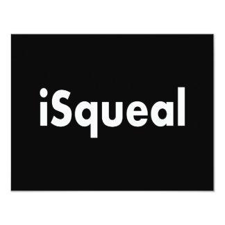 iSqueal Convite 10.79 X 13.97cm