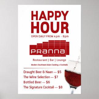 Isqueiro Jul-23 vermelho do poster do happy hour d Pôster