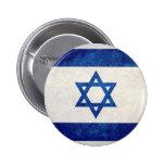 Israel; Bandeira israelita Bóton Redondo 5.08cm
