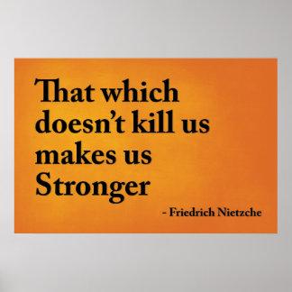 Isso que não nos mata faz-nos mais fortes pôster
