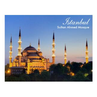 Istambul - mesquita de Ahmed da sultão no cartão