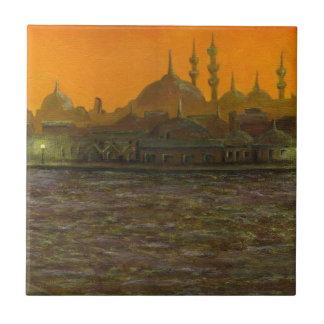 Istambul Türkiye/Turquia Azulejo Quadrado Pequeno