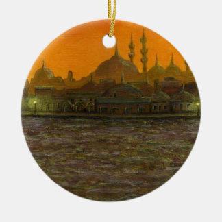 Istambul Türkiye/Turquia Ornamento De Cerâmica Redondo