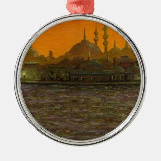 Istambul Türkiye/Turquia Ornamento Redondo Cor Prata