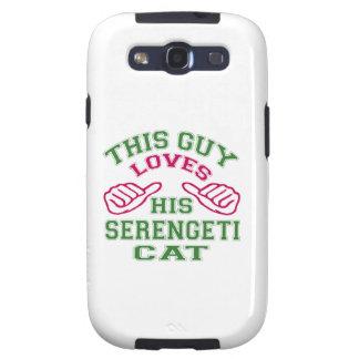 Isto ama seu gato de Serengeti Capas Galaxy S3