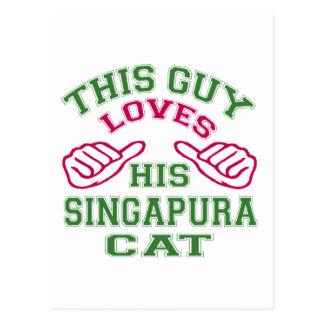 Isto ama seu gato de Singapura Cartao Postal