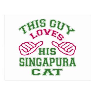 Isto ama seu gato de Singapura Cartões Postais