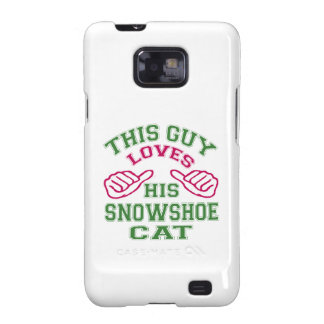 Isto ama seu gato do sapato de neve capa galaxy SII